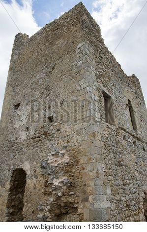 Old tower Calatañazor in Soria, Castilla leon, Spain