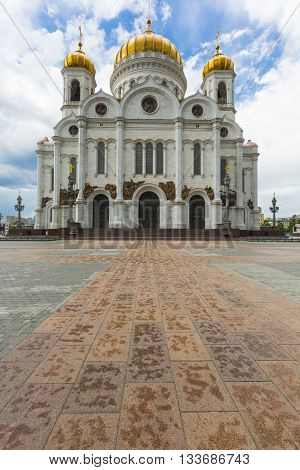 Moscow - June 03:cathedral Of Christ The Saviour In Moscow, Russia On June 03, 2016