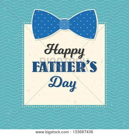 Happy father's day illustration vector template, design for card or background with calligraphic font, typographical Father's day in vintage style