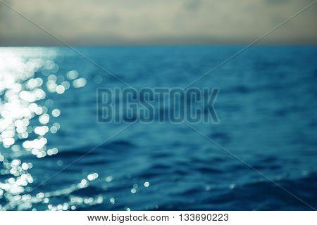 High contrast ocean surface texture at sunset.