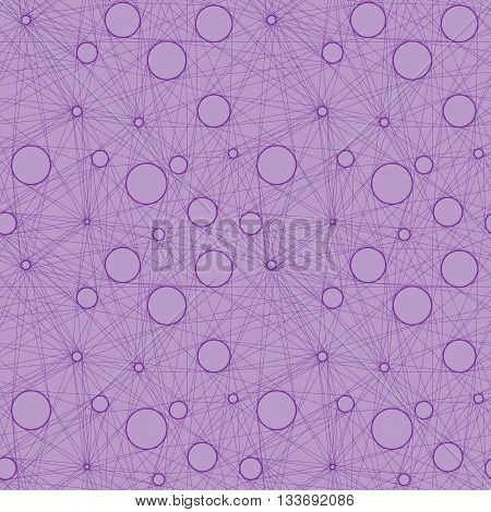 Seamless vector pattern of linear mesh on isolated background. Contemporary. Isolated.