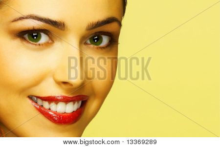 Beautiful smiling woman.