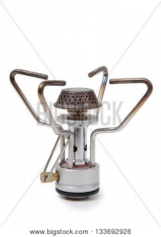 Metal burner gas on a white background