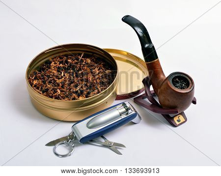 Pipe for Smoking tobacco,and lighter flavored tobacco.