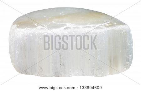 Tumbled Ulexite (tv Rock) Stone Isolated