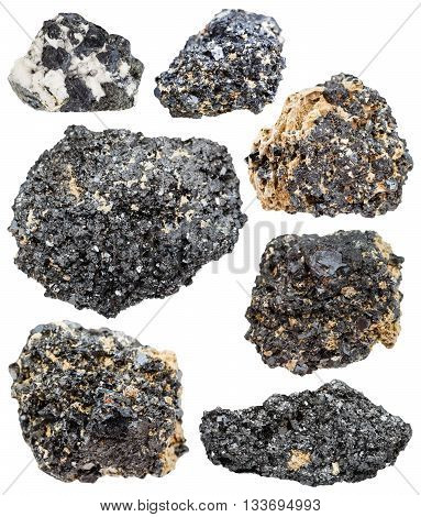 Set Of Perovskite Minerals, Crystals, Natural Rock