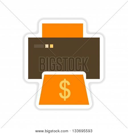 paper sticker on white  background money printing