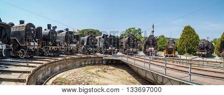 Rusty Train Locomotive