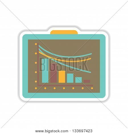 paper sticker on white  background economy presentation