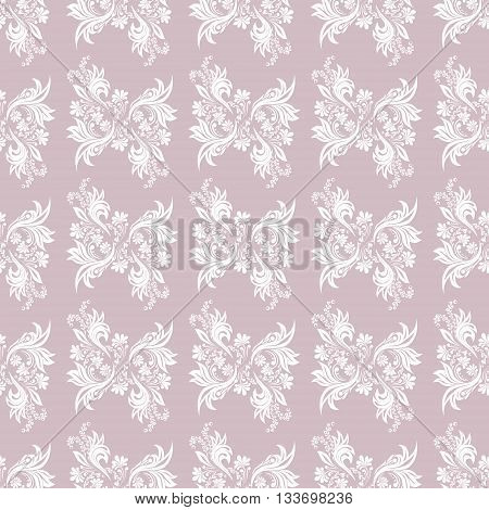 Serenity  seamless pattern for wall. Wallpaper fabric textile design with mandalas and decorative vintage, trendy color elements.Vector illustration, surface