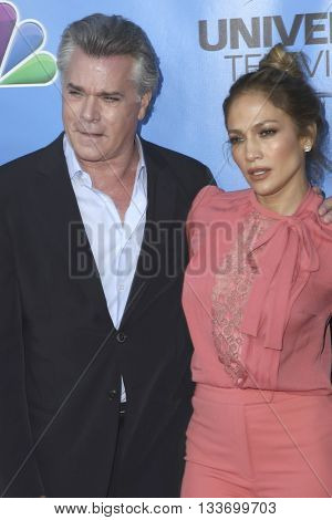 LOS ANGELES - JUN 9:  Ray Liotta, Jennifer Lopez at the Shades of Blue Television Academy Event at the Saban Media Center on June 9, 2016 in North Hollywood, CA