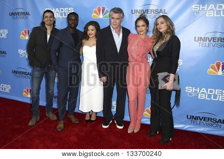 LOS ANGELES - JUN 9:  Shades of Blue Cast at the Shades of Blue Television Academy Event at the Saban Media Center on June 9, 2016 in North Hollywood, CA