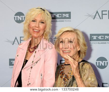 LOS ANGELES - JUN 9:  Dinah Englund, Cloris Leachman at the American Film Institute 44th Life Achievement Award Gala Tribute to John Williams at the Dolby Theater on June 9, 2016 in Los Angeles, CA