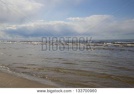 The Baltic sea in Jurmala. The Latvia