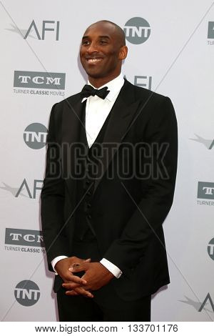 LOS ANGELES - JUN 9:  Kobe Bryant at the American Film Institute 44th Life Achievement Award Gala Tribute to John Williams at the Dolby Theater on June 9, 2016 in Los Angeles, CA
