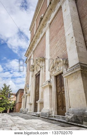 An image of a church in Fabriano Italy Marche