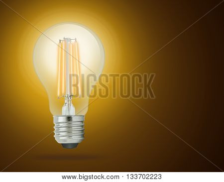 LED filament light bulb Warm White 2700K (E27).