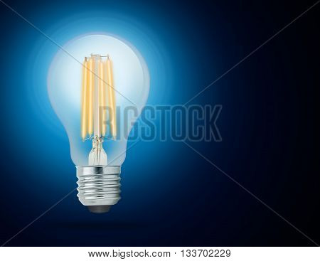 LED filament light bulb Cool White 6000K (E27).