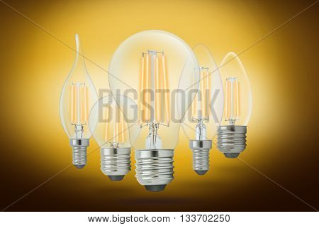 LED filament light bulb Warm White 2700K(E27).