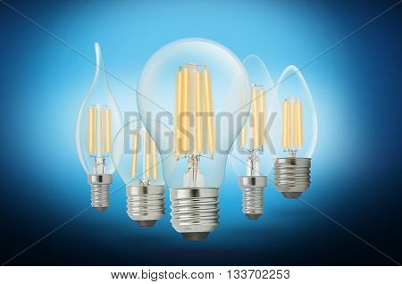 LED filament light bulb Cool White 6000K.