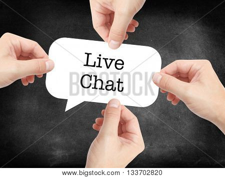 Live Chat written on a speechbubble