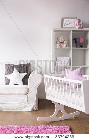 Bright White Nursery Room