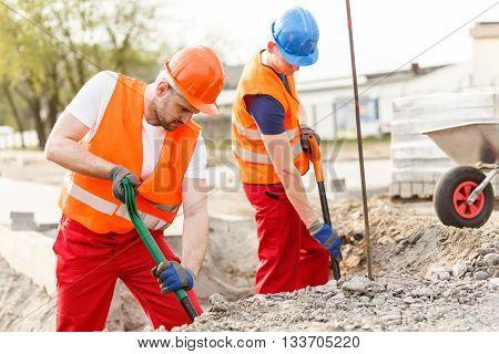 Labourers Working Very Hard