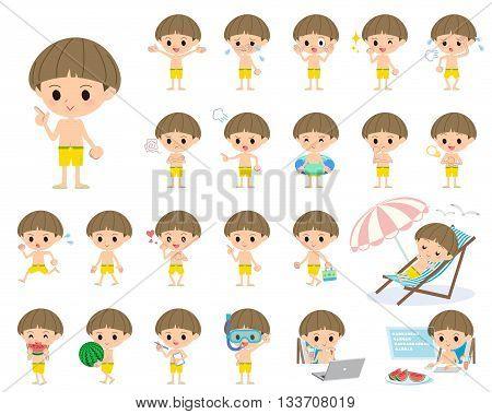 Boy Yellow Swimwear Style