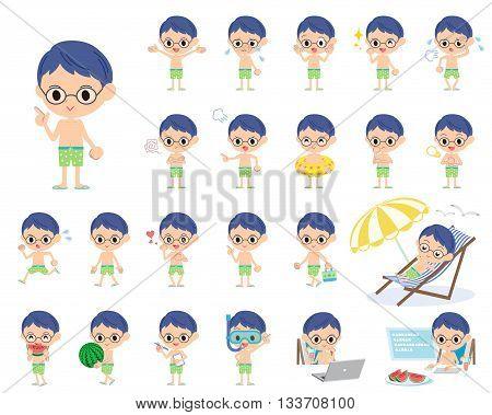 Boy Green Swimwear Style