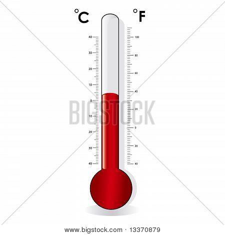 Thermometer, celsius, fahrenheit