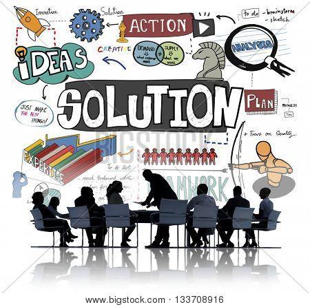 Solution Problem Solving Result Progress Concept