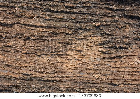 Texture of Calc-silicate rock (Metamorphic rock) in Suphan Buri province Thailand. Suitable for use as wallpapers.