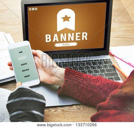 Banner Bookmark Content Web Online Management Concept