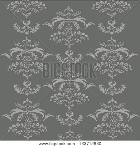 Symmetrical light pattern on gray background, hand drawn, vector illustration