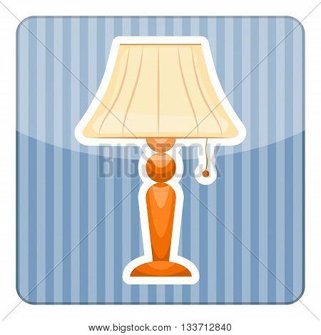 Table lamp. Vector illustration in cartoon style