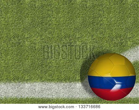 Colombian Ball in a Soccer Field