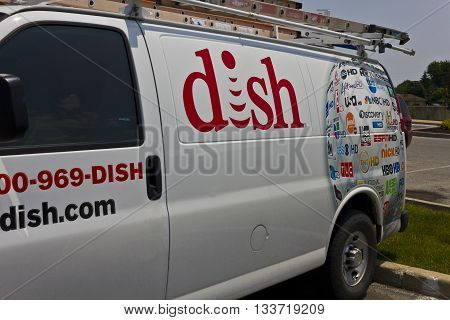 Indianapolis - Circa June 2016: DISH Network Company Vehicle. DISH is an American Satellite Service Provider I
