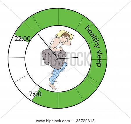 Chart healthy sleep in the background. vector illustration