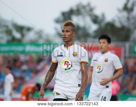Prachuapkirikan Thailand-mar9,2016:nascimento Dos Santos Neto Osvaldo Player Of Prachuap Fc  In Acti