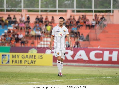 Prachuapkirikan Thailand-mar9,2016:stojanov Uros,yugoslavia Nationality Player Of Prachuap Fc  In Ac