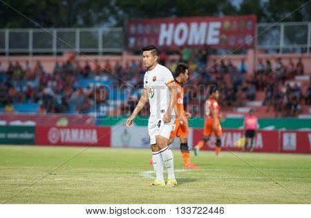 Prachuapkirikan Thailand-mar9,2016:witsarut Wai-ngan Player Of Prachuap Fc  In Action During Prachua