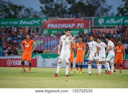 Prachuapkirikan Thailand-mar9,2016:hristijan Kirovski,macedonia National Team Player Of Prachuap Fc