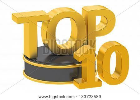 Top 10 3D rendering isolated on white background