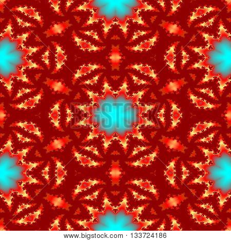 Seamless abstract kaleidoscopic oriental persian pattern for carpet or silk fabric