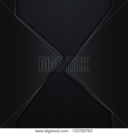 Abstract black metal background, Carbon fiber background, Vector illustration