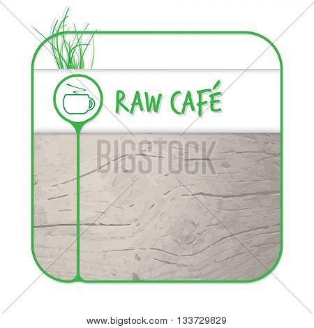 Text box for fill your text and raw coffee