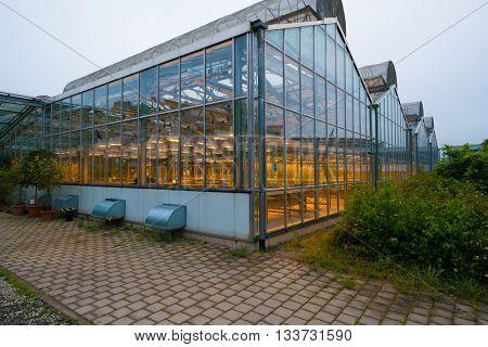 JENA, GERMANY - MAY, 29, 2016: Glasshouse plant on Beutenberg Campus in Jena, Germany.