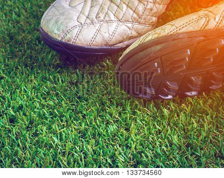 Soccer, Football, Green, Old, Grass, Field, Ball, Sport, Game, Leather, Training, Goal, Outdoor, Tur