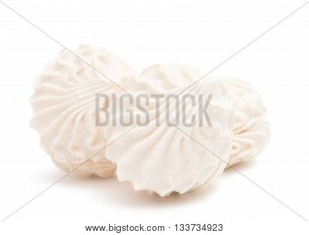 sugar souffle marshmallows isolated on white background