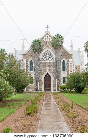 JANSENVILLE SOUTH AFRICA - MARCH 7 2016: The Dutch Reformed Church in Jansenville was consecrated on 20 June 1885.
